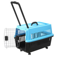 Comfortable foldable and soft fabric Airplane Cage Plastic Dog Carrier