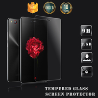 Brand Dmax!!Crystal clear oleophobic coating 9H privacy tempered glass screen protector for ZTE nubia Z9