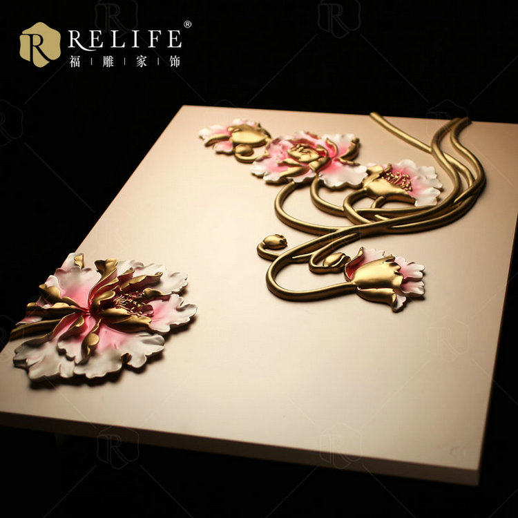 Wall art flower acrylic painting model C8016
