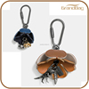 100% handmade alloy flower alloy animal shape key chains genuine leather custom keyring chain special gift car key chain