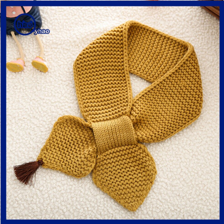 Yhao Baby Neck Winter Warm Solid Color Scarf Boy Girl Knitted Scarf