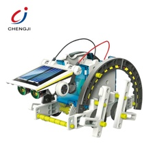 13 in 1 diy assembling solar science learning educational robot kits stem toys for <strong>kids</strong>