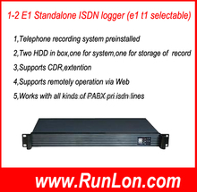 1U 60 channels PRI e1 pbx call recorder