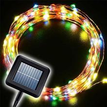 Whosales Fatcory Christmas Wedding Decor Solar Power LED Christmas Festival String Light