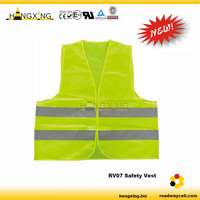 RV07 Manufacturing Reflective Yellow Color Safety Vest