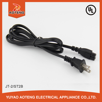 UL two core SPT-2 2X18AWG 105 degree america 110 volt 2 pin power cord