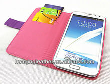 Case for SamSung galaxy note2 N7100 with stand and credit card