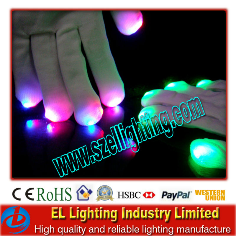 Promotional fashion flashing led gloves