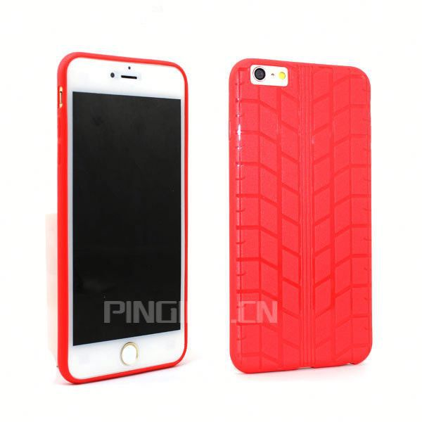 Plastic tyre grain soft tpu back cover for iphone 5 5g