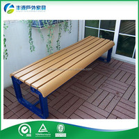 Decking Bench plastic wood & cast aluminum Garden Arch With Bench