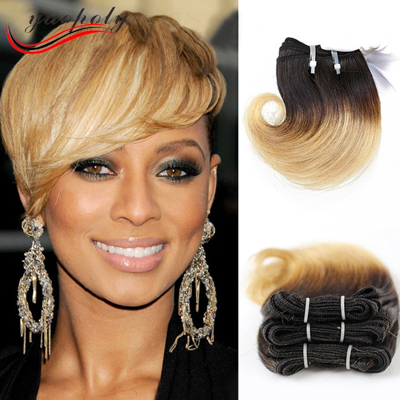 2017 Trending Products Virgin Brazilian Hair Short Ombre Hair Weave