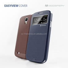 mercury goospery easy view flip cover for samsung galaxy s4 mini i9190,pu leather case