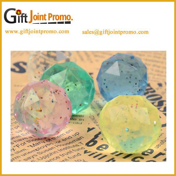 Promotional gift multi faceted rubber bouncing balls
