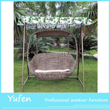 outdoor rattan wicker hanging swing chair