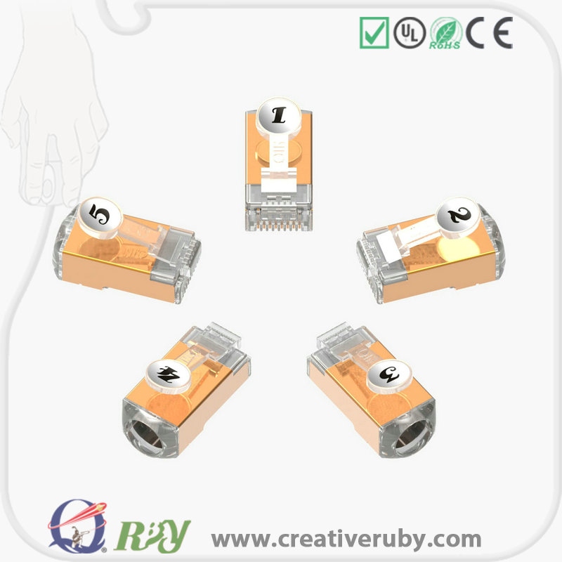 Credit sale ! 2016 new design cable connector ftp cat7 rj45 modular plug / connector for cat7 cable