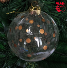 Clear hand painted christmas ornaments custom glass ball