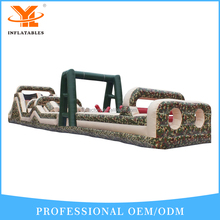 Giant Military and Camouflage Commercial Inflatable Floating Obstacle Course Games