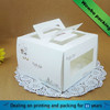 Custom white paper cardboard cake boxes with clear pvc window