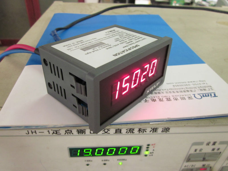 4 1/2 voltage panel meter with RS232 output