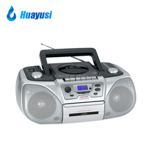 Portable cd dvd boombox radio cassette recorder player with usb sd