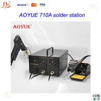 2 in 1 BGA soldering Station AOYUE 710A+ ,PCB chips repair machine with Electric Vacuum Pump and solder gun