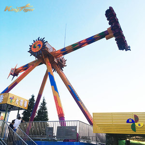 Big pendulum swing attraction rides in playground