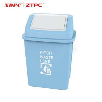 Promotional customized stand plastic color coded waste bin hotel room with wheels