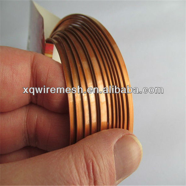 Golden quality metal flat aluminium wire for art and craft (xunqiang factory professional manufacturer)
