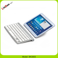 Ultrathin wireless bluetooth keybord for apple tablet portable bluetooth keyboard for tablet pc BK3003