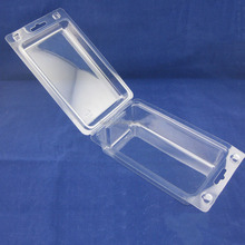 custom transparent double pvc clamshell package