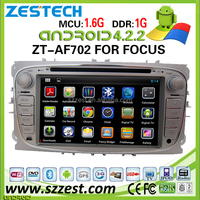 "ZESTECH wholesale OEM 7"" 2 din in-dash car dvd gps android for Ford Fucus/Mondeo car dvd android with bluetooth 3g wifi"