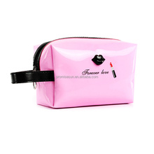 Wholesale candy color patent cosmetic bag, new quality waterproof pu makeup bag,toiletry bag leather
