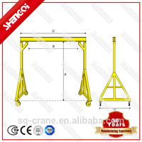 Maintenance and Pulling product Using Lifting Materials A Frame Crane For Sale