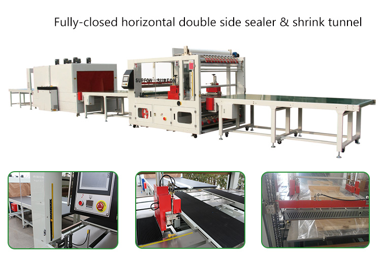 Automatic Detect Different Size Sealer And Shrink Tunnel for Door