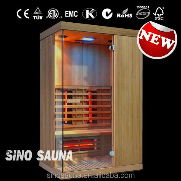 new & hot selling---luxury full spectrum red glass heater far infrared sauna room indoor dry sauna room