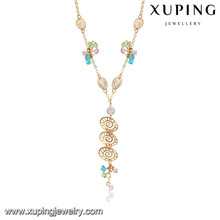 43246 Xuping new designed 18k gold color jewelry women necklace