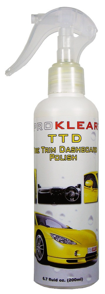 PROKLEAR TTD Tire Trim Dashboard Polish Protectant - Polish & Protect Tire Trim Rubber Vinyl - Satin finish