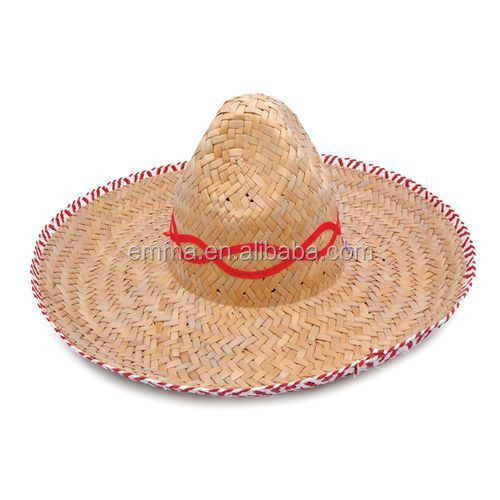 Carnival party fancy dress sombrero mexican straw women hat HT8795