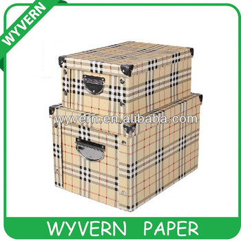 [Wyvern]2015 Paper folding storage box with metal edge,Factory price!