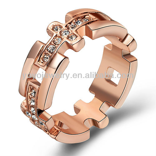 Hot sale mexican engagement rings copper micro rings chain ring