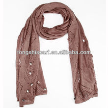fashion knit jewels scarf with pendant