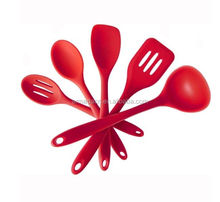 5pcs/Set FDA Approved Silicone Cooking Tools Solid Serving kitchen Utensils