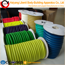 Colored latex rubber resistance stretch tube in roll, expandable garden water hose tube