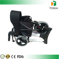 High quality aluminum folding shopping cart with seat disability rollator