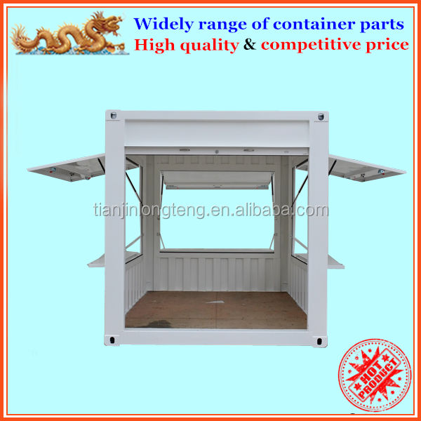 Customized 10ft pop up shipping container kiosk with roller shutter door
