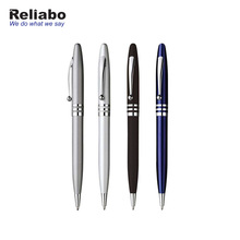 Reliabo Cheap Business Promotion Gift Metal Custom Logo Smooth Fast Writing Ball Pen