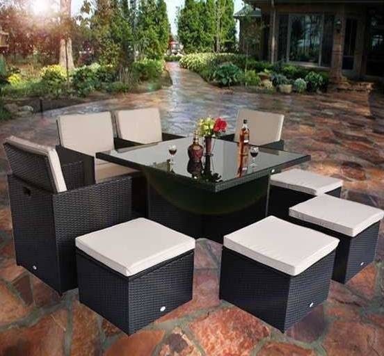 outdoor furniture rattan dinning table