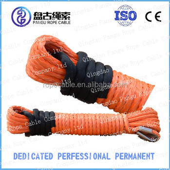 cable pulling winch machine synthetic 4x4 winch rope with hook thimble sleeve