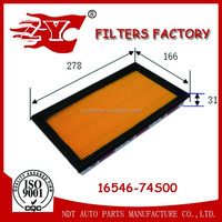 car air filter used for INFINITI-FX35 OEM NO.16546-74S00