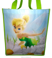 Glossy laminated non woven fabric lamination shopping bag